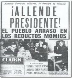 El Clarín -Salvador Allende - 5 de septiembre de 1970  - Descontexto